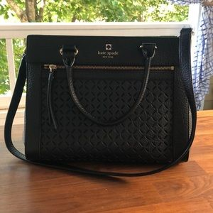 Authentic black Kate spade leather bag
